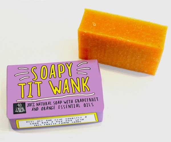 Soapy Tit Wank - Grapefruit & Orange - Soap Bar