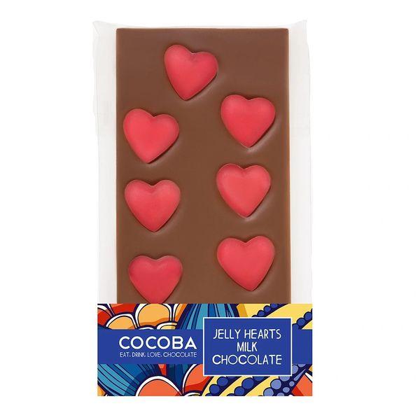 Jelly Hearts Milk Chocolate 100g