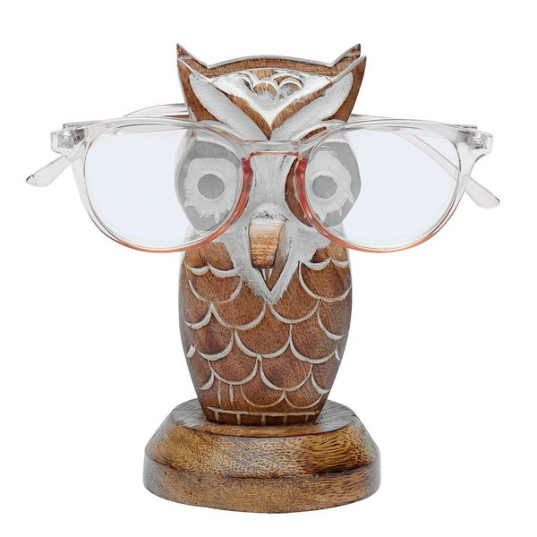 Wise old owl glasses holder