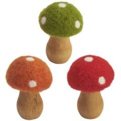 Felt woodland toadstool decoration