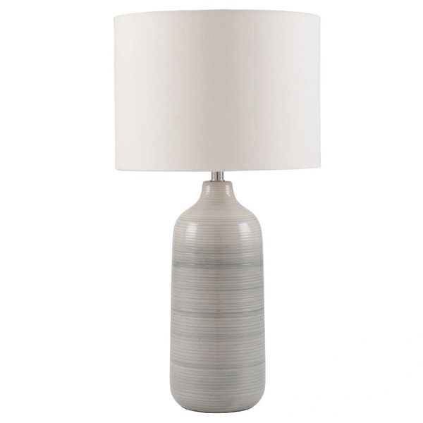Blue and Grey Ombre Ceramic Table Lamp