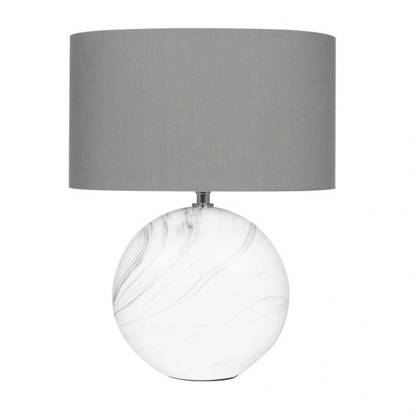 Marble Effect Ceramic Table Lamp