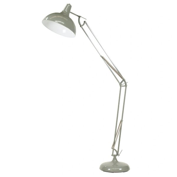 Grey Painted Oversize Task Floor Lamp