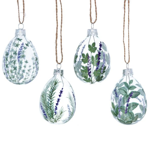 Hanging Glass Egg Decorations set of 4