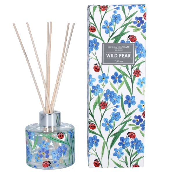 Diffuser - Wild Pear with Forget Me Not and Ladybird design