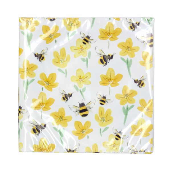 Buttercups & Bees Paper Napkins