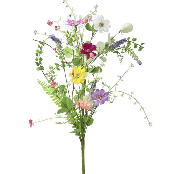 Faux Meadow Flowers Spray 84cm
