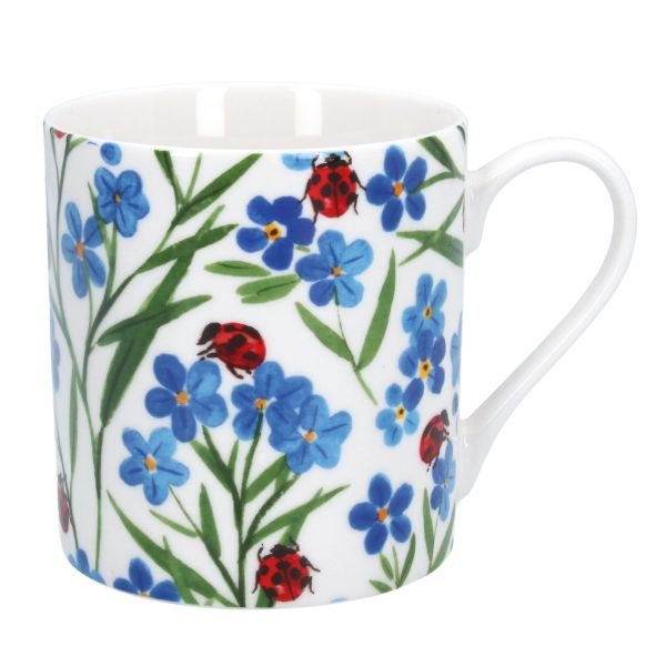 Ceramic Mug Forget-me-not & Ladybirds