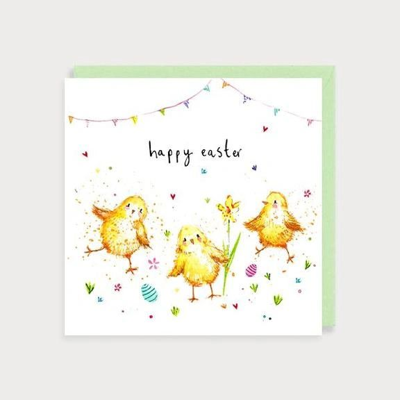 Chicks Happy Easter Card EA01