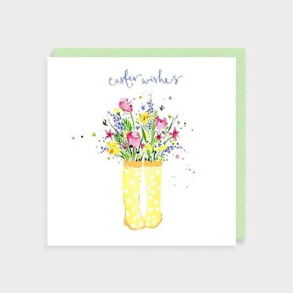 Wellies Easter Wishes Card EA05