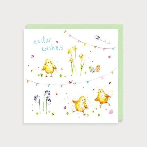 Easter Wishes Chicks Card EA04