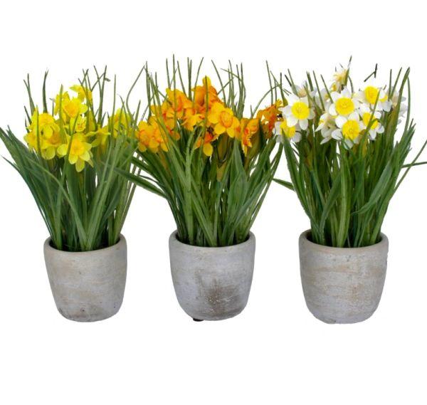 Faux Daffodils in Pots - choose
