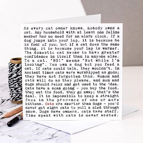 Cats Wise Words Quotes Card gc254