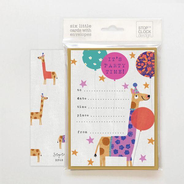 Giraffe Party Invites