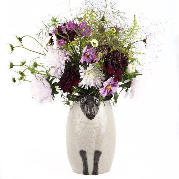 Black Faced Suffolk Sheep Vase
