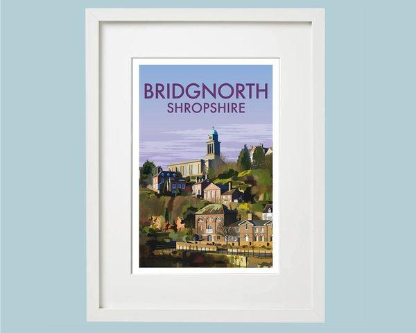 Bridgnorth Print Church View