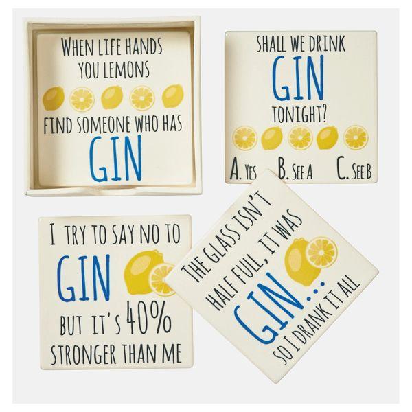 Set/4 Gin coasters