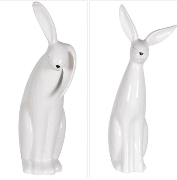 White Gloss Rabbit - choose style - PRICE IS FOR ONE