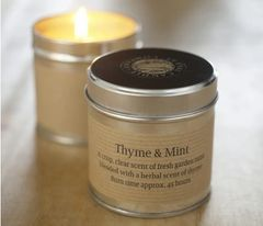 Thyme & Mint Scented Tin Candle