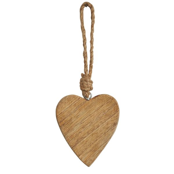 Natural wooden heart decoration