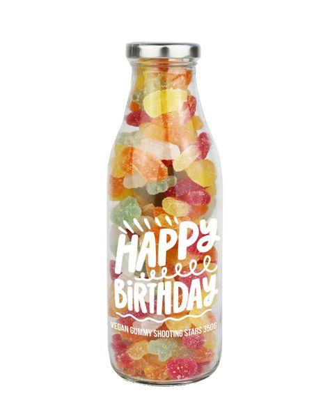 'HAPPY BIRTHDAY' GUMMY STARS MESSAGE BOTTLE – 350G