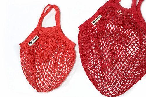 Organic Kids String Bag - Red