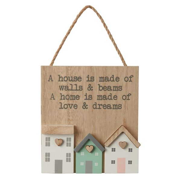 Lovely 3D Home Hanging Sign