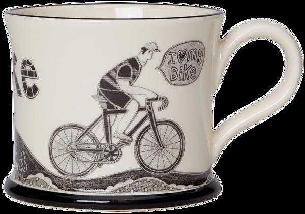 I love my Bike Mug from Moorland Pottery