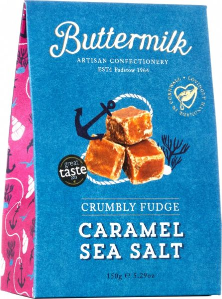 BUTTERMILK CRUMBLY CARAMEL SEA SALT FUDGE 150G