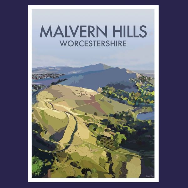 Malvern Hills View Framed Print