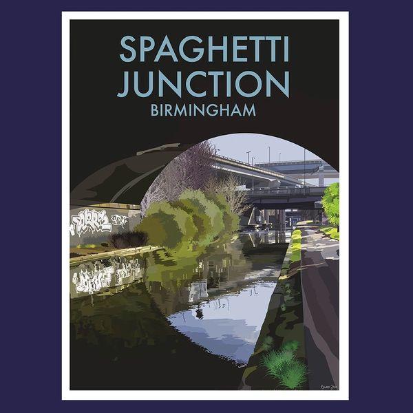 Spaghetti Junction Birmingham Framed Print