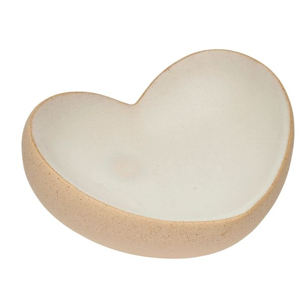 Scooped Stoneware Heart Bowl