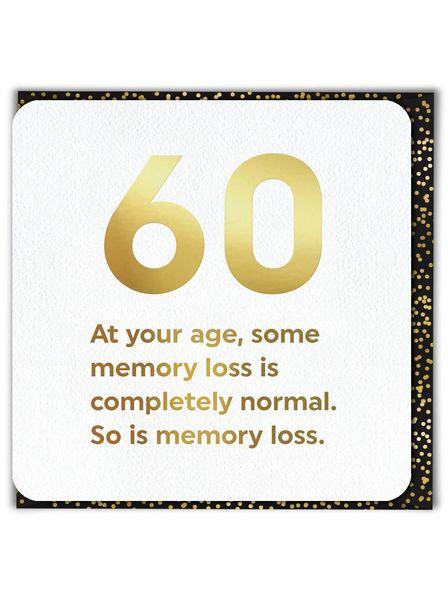60TH (GOLD FOILED) BIRTHDAY AGE CARD qu040
