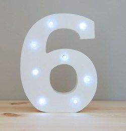 LIGHT UP NUMBER – 6