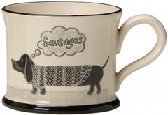 Sausage Dog Mug by Moorland Pottery