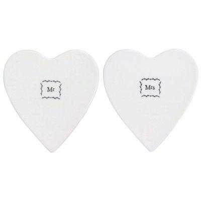 East Of India Mr & Mrs Porcelain Boxed Coasters