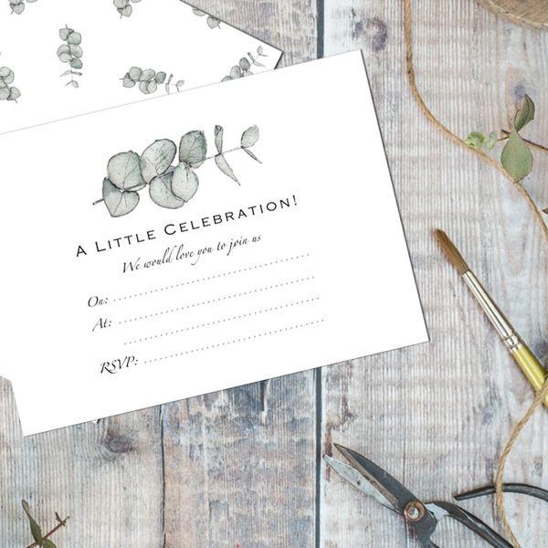 Eucalyptus – Set of 6 Invitations in02