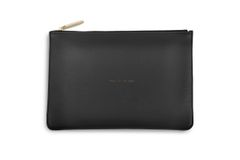TALK TO THE BAG PERFECT POUCH CHARCOAL by Katie Loxton