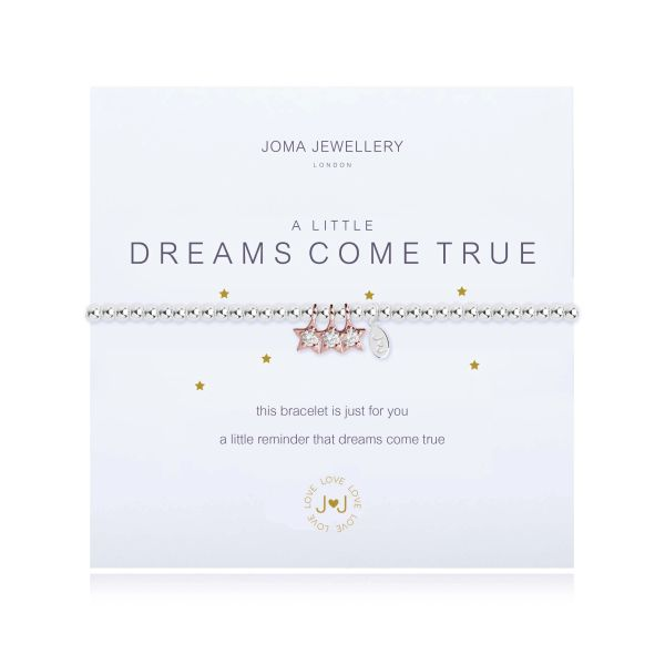 A LITTLE DREAMS COME TRUE BRACELET Silver Bracelet with Rose Gold Sparkling Stars by Joma
