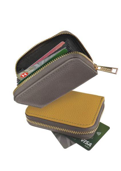 Credit Card Organiser - Two-Tone - Mustard/Grey