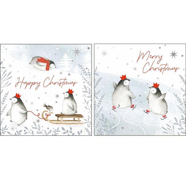 HAPPY CHRISTMAS BABY PENGUIN WAX80A