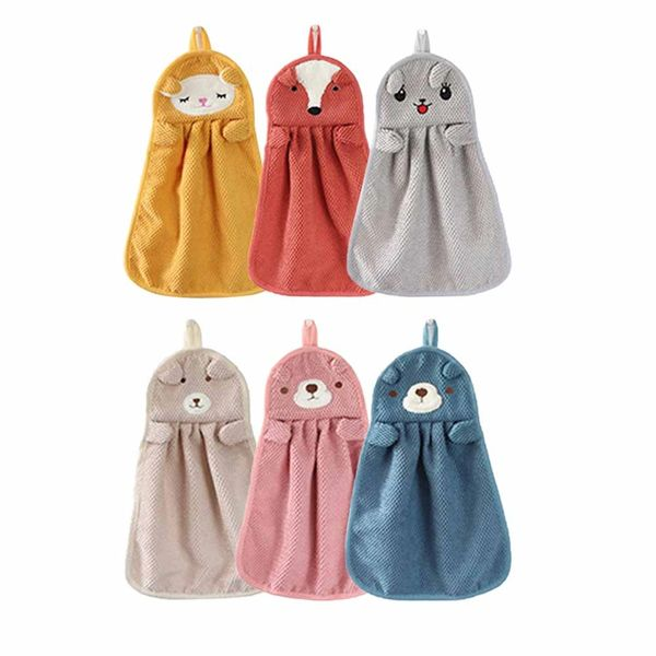 Hand Towel With Hanging Loop Washclothes Kitchen Towels