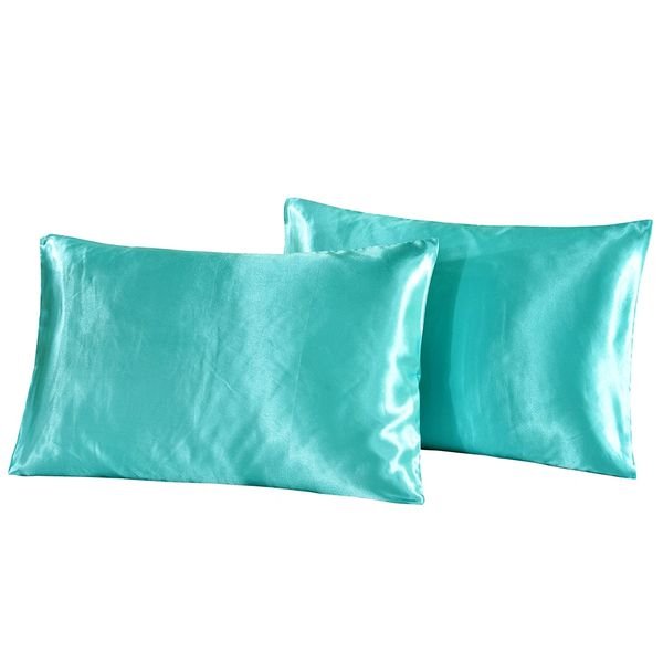 Battilo Satin Pillowcases Set Of 2 Envelope Closure Pillow