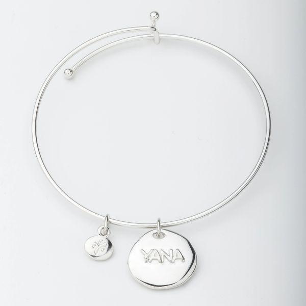 YANA Bracelet w/ Raised YANA Charm
