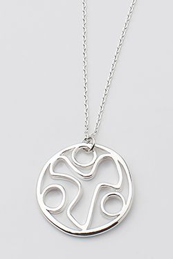 YANA Necklace w/ YANA Symbol Within Circle