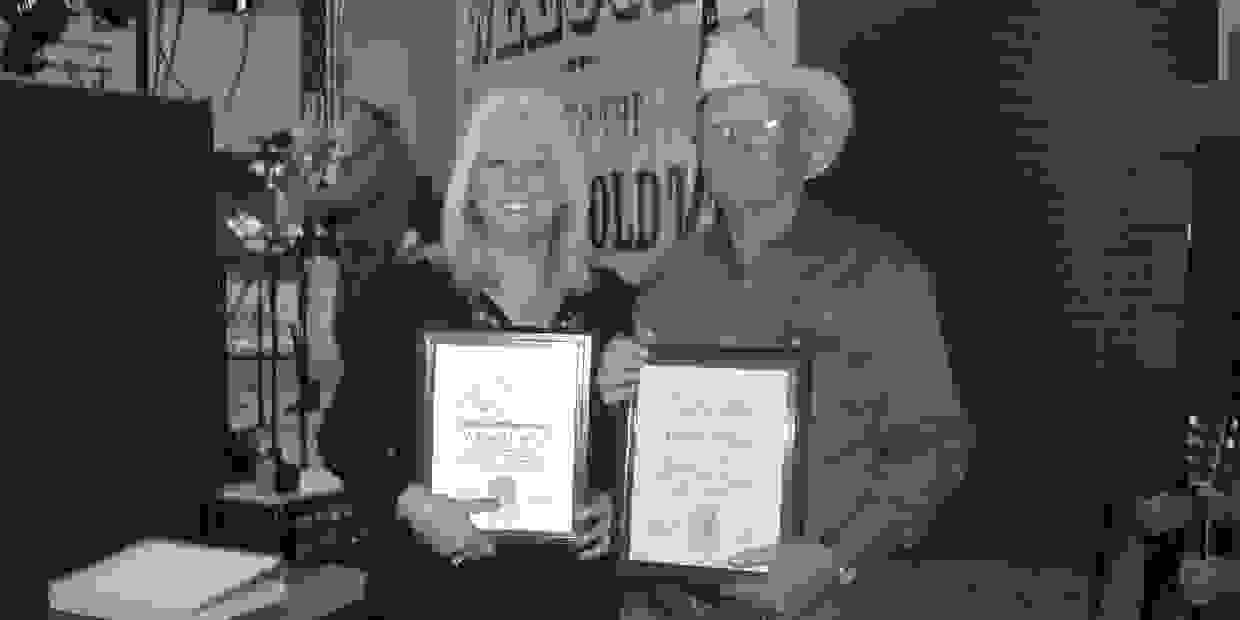 In 2008 we were inducted into the Old Time Country and Bluegrass Hall of Fame in Iowa for contributi