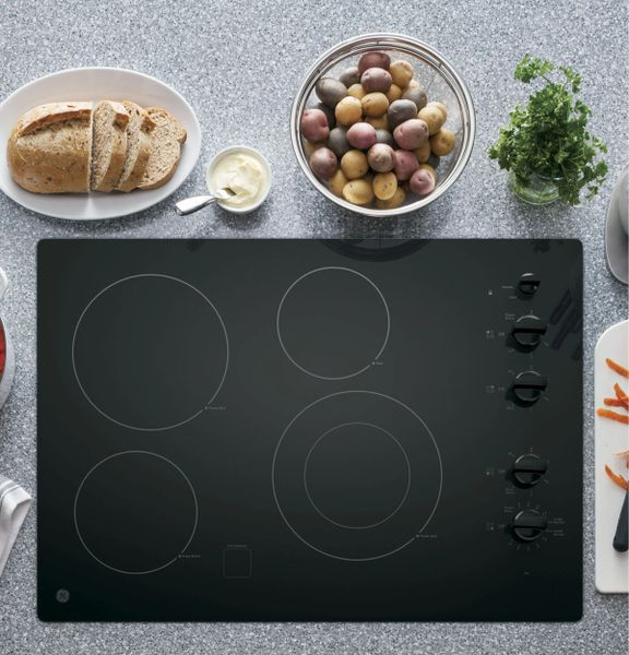 Ge Jp3530djbb 30 Quot Built In Knob Control Electric Cooktop