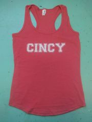 Cincy ladies tank top heather red