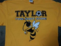 Pass Shoot Score Gold Cotton