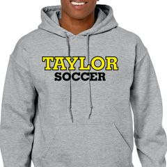 Taylor Soccer grey hoodie cotton